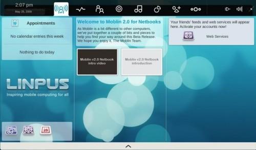 Linpus adoptara la interfaz de Moblin 2