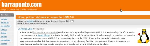 El pasado 09 de Junio se anuncio que linux sería el primer Sistema Operativo en soportar de manera nativa el USB 3.0