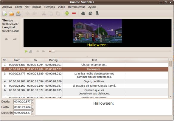 Gnome subtitles: editor sencillo de subtitulos  | El Blog de