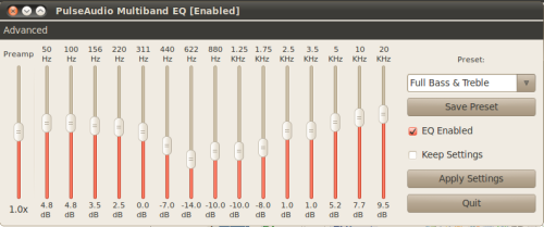 PulseAudio Equalizer